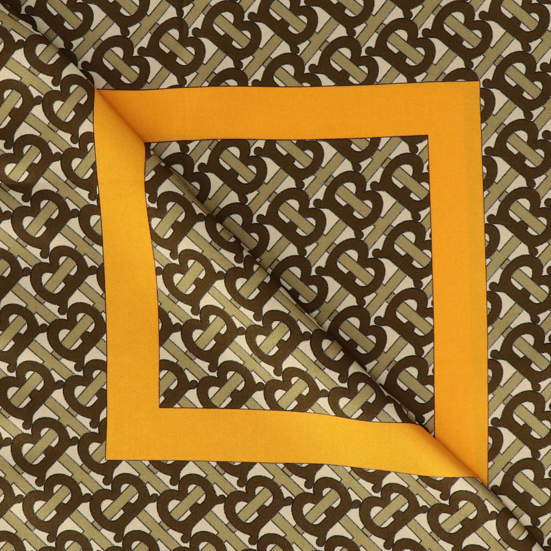 Burberry silk scarf with TB monogram print beige 3
