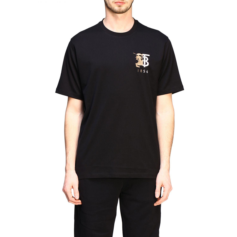 T-shirt Burberry a maniche con logo TB nero 1