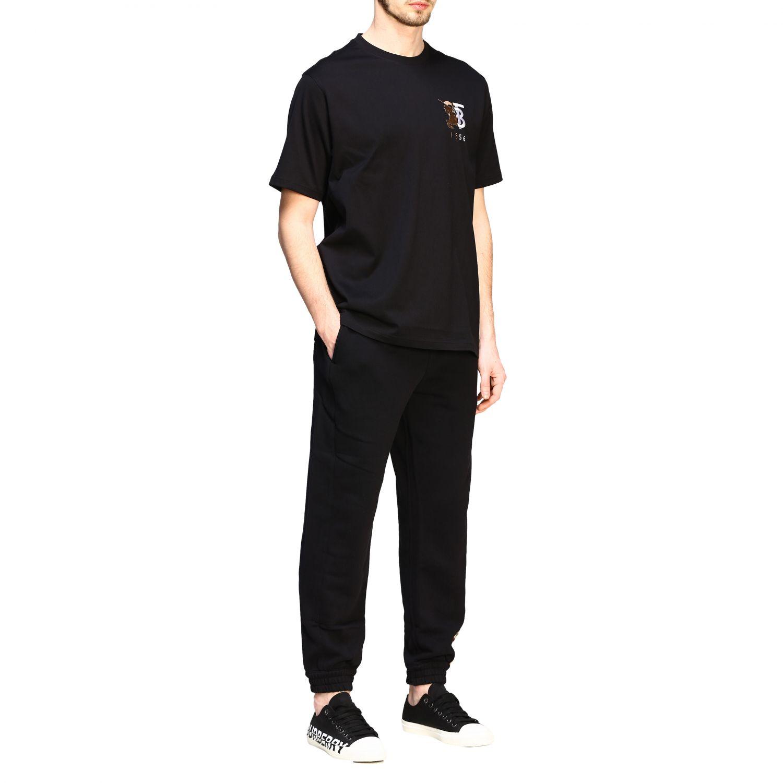 T-shirt Burberry a maniche con logo TB nero 2