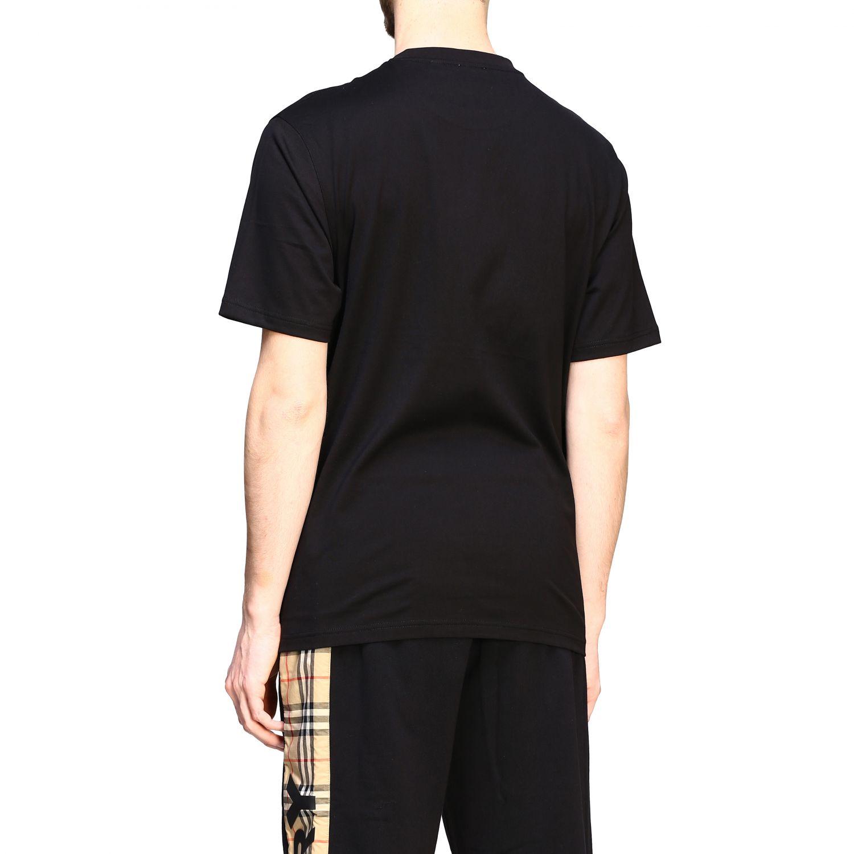 T-shirt Burberry a maniche con logo TB nero 3