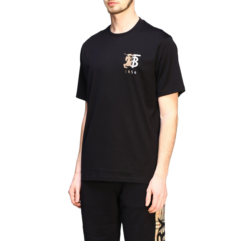T-shirt Burberry a maniche con logo TB nero 4