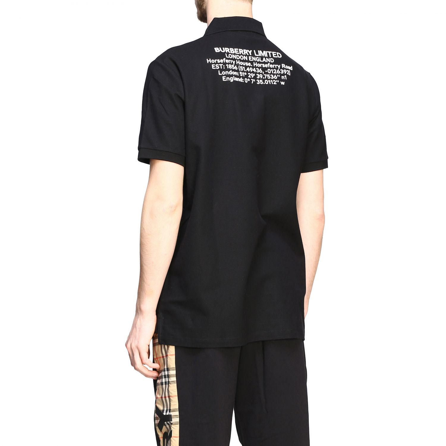 Polo shirt Burberry: Short-sleeved Burberry polo shirt with embroidered logo black 3