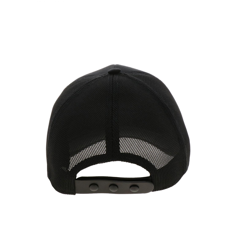 Cappello Burberry stile baseball in cotone e rete nero 2