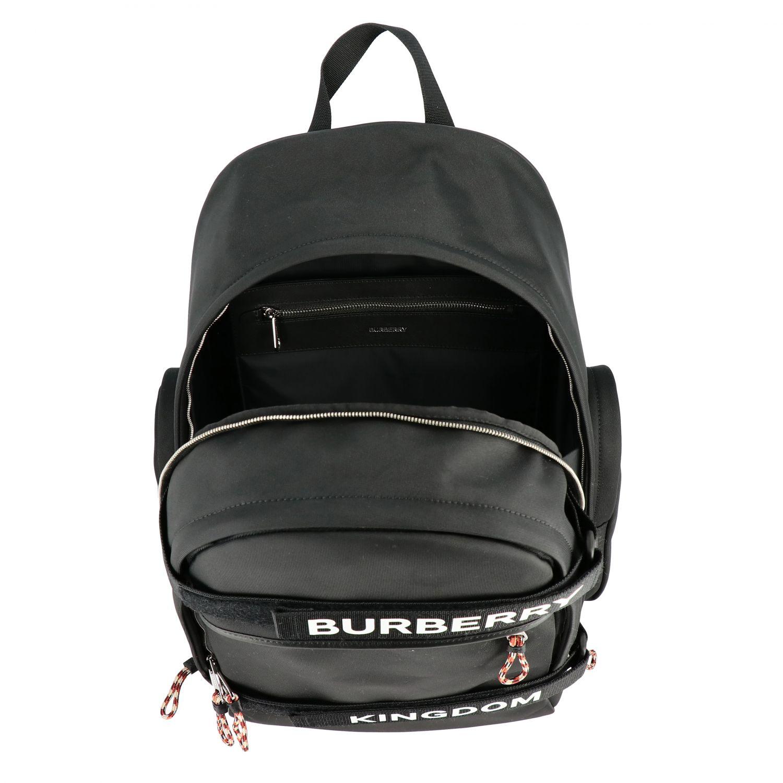 Rucksack Burberry: Nevis Burberry Rucksack mit Kingdom Logo und Schriftzug schwarz 6