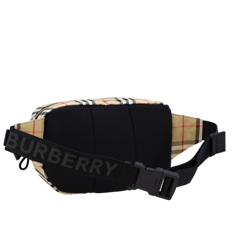 Marsupio Burberry check con logo beige 3