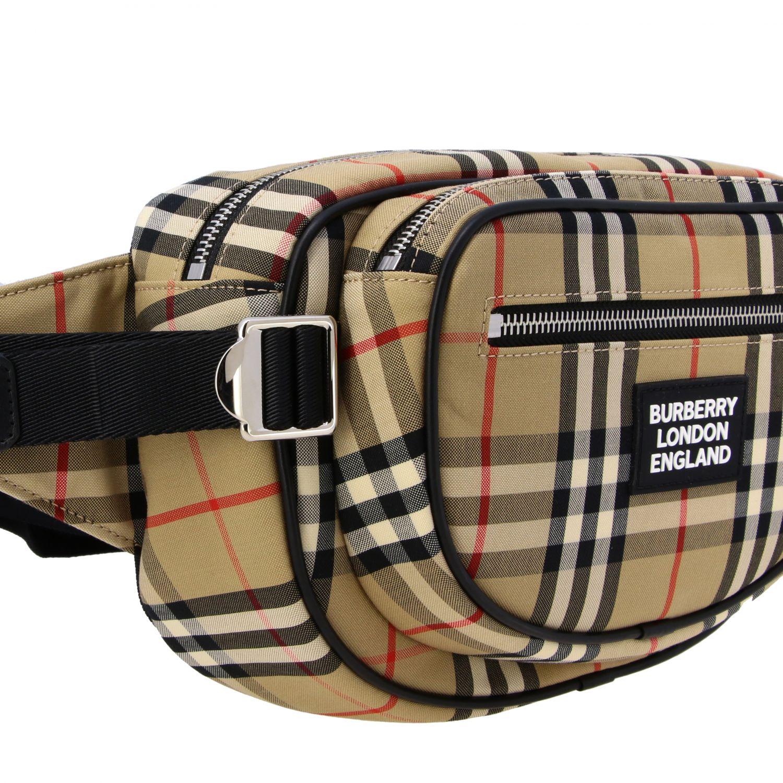 Burberry Check Gürteltasche mit Logo beige 4
