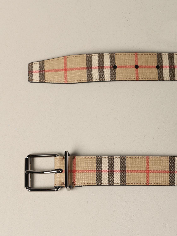 Gürtel Burberry: Burberry Check Leder Gürtel beige 2