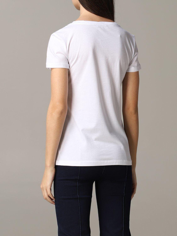 Patrizia Pepe T-Shirt mit Strass-Logo weiß 3