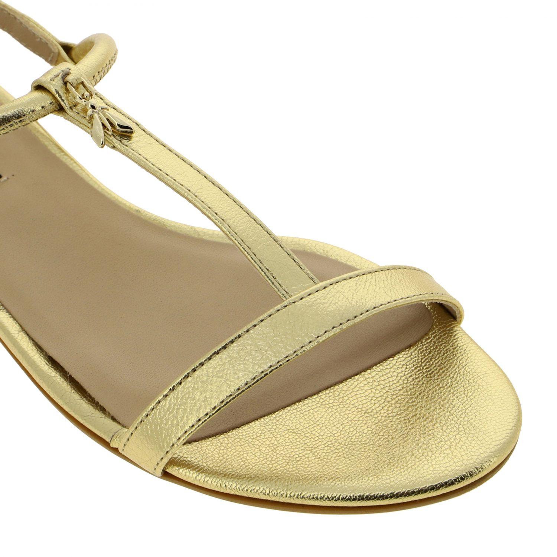 Patrizia Pepe Sandale aus laminiertem Leder gold 4
