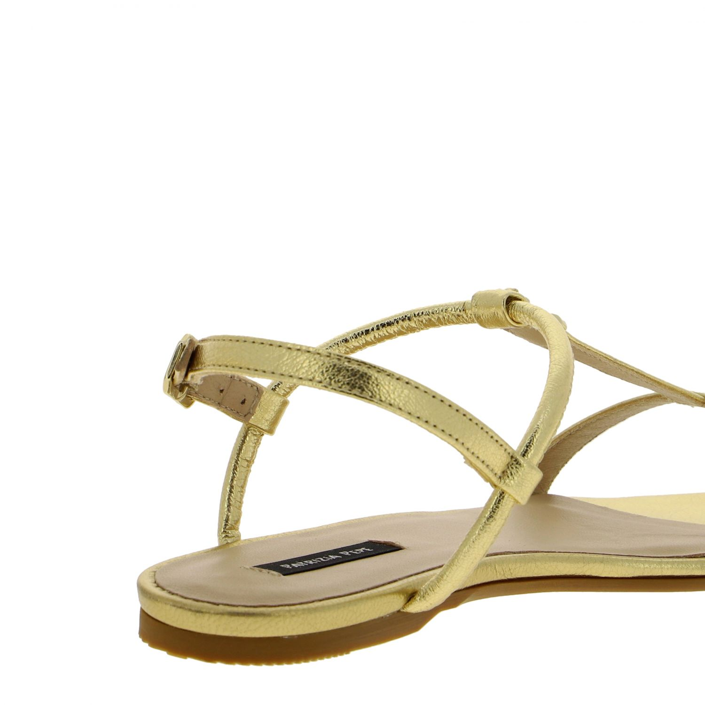 Patrizia Pepe Sandale aus laminiertem Leder gold 5