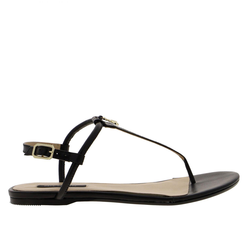 Patrizia Pepe Sandale aus Leder schwarz 1