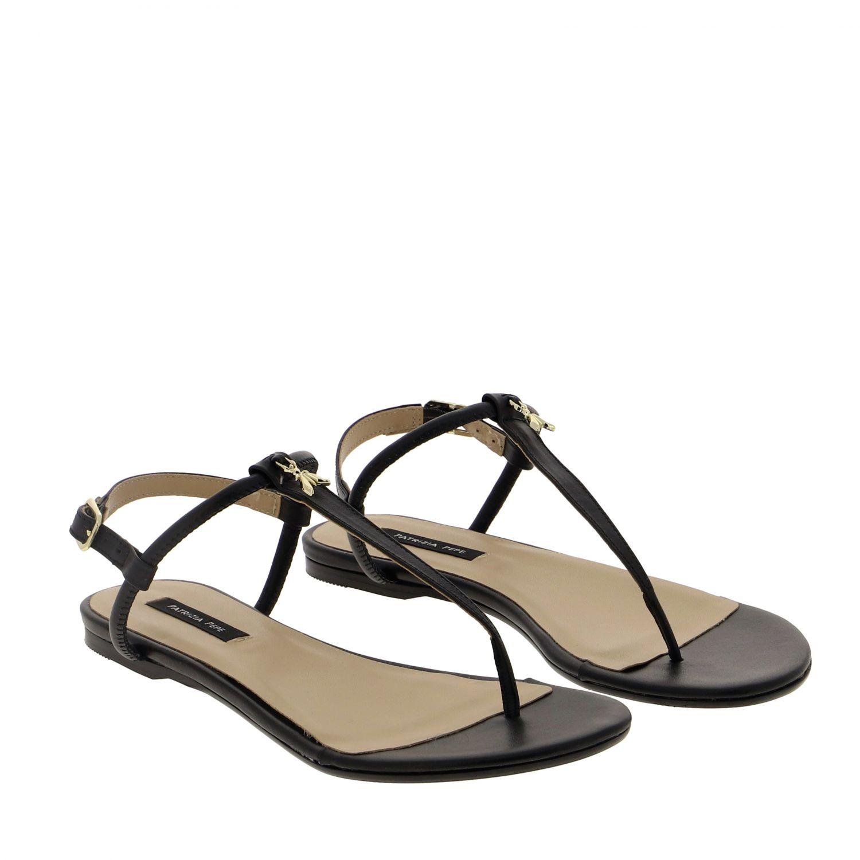 Patrizia Pepe Sandale aus Leder schwarz 2