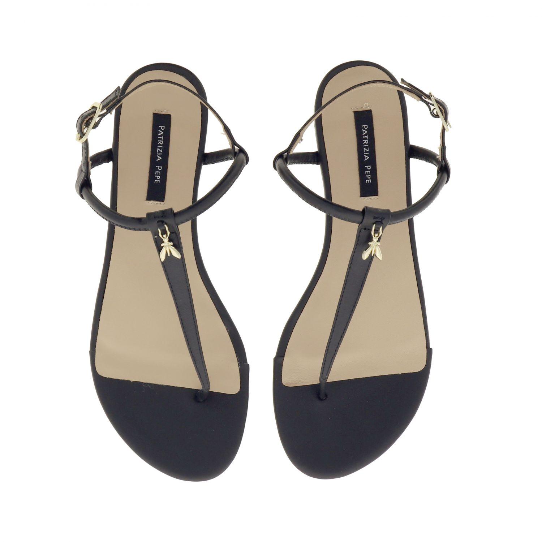 Patrizia Pepe Sandale aus Leder schwarz 3