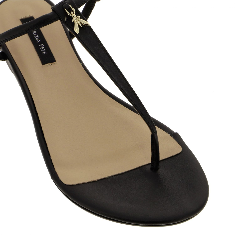 Patrizia Pepe Sandale aus Leder schwarz 4
