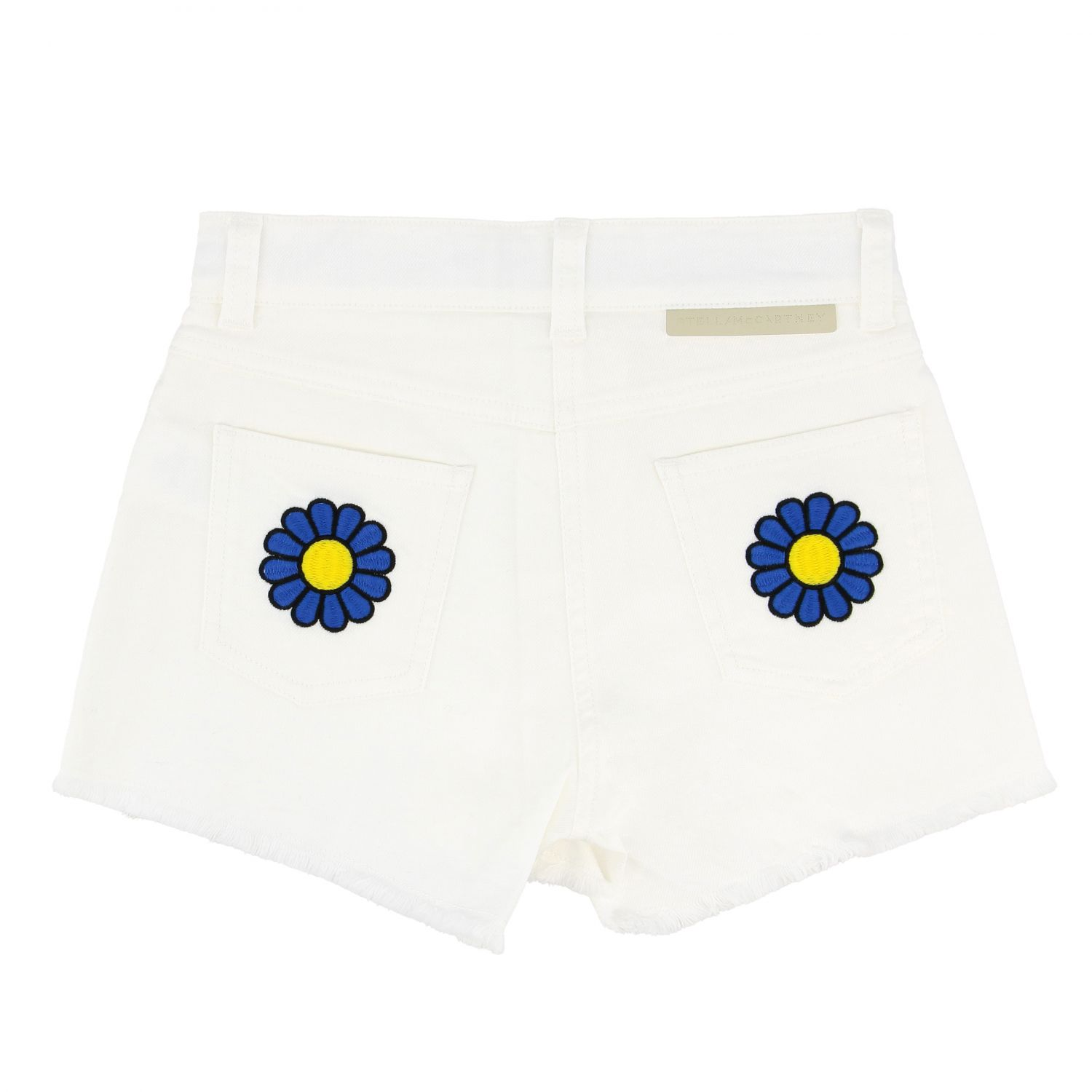 Stella McCartney shorts with floral embroidery white 2