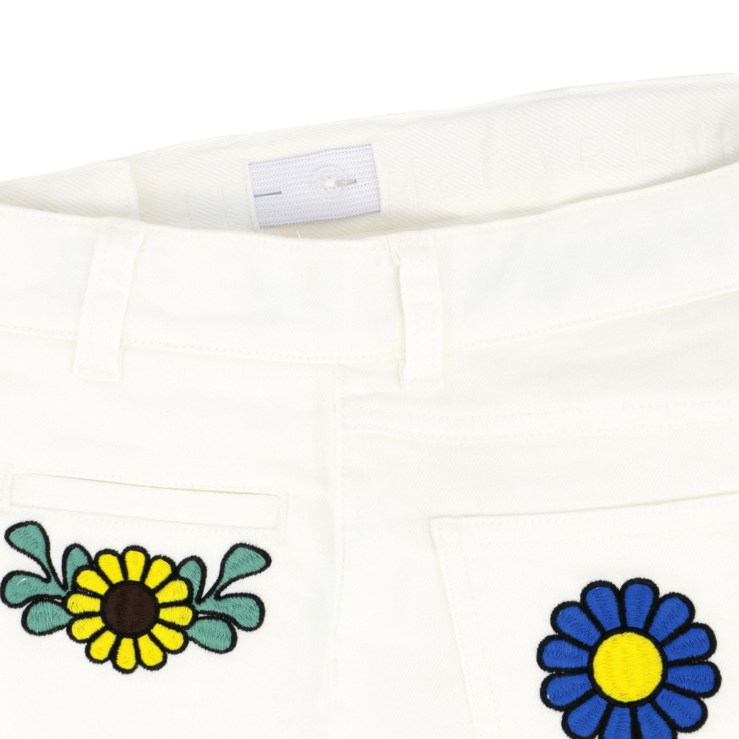 Stella McCartney shorts with floral embroidery white 3