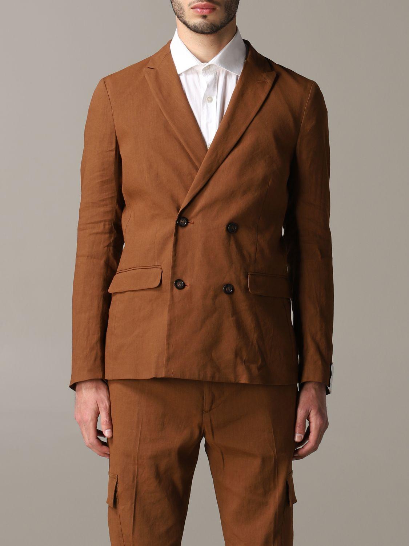 西服外套 男士 Paolo Pecora 黄棕色 1