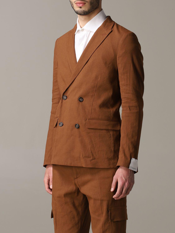 西服外套 男士 Paolo Pecora 黄棕色 4