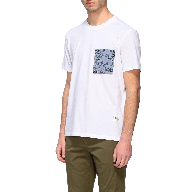 T-shirt homme Paolo Pecora blanc 4