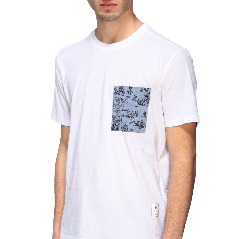 T-shirt homme Paolo Pecora blanc 5