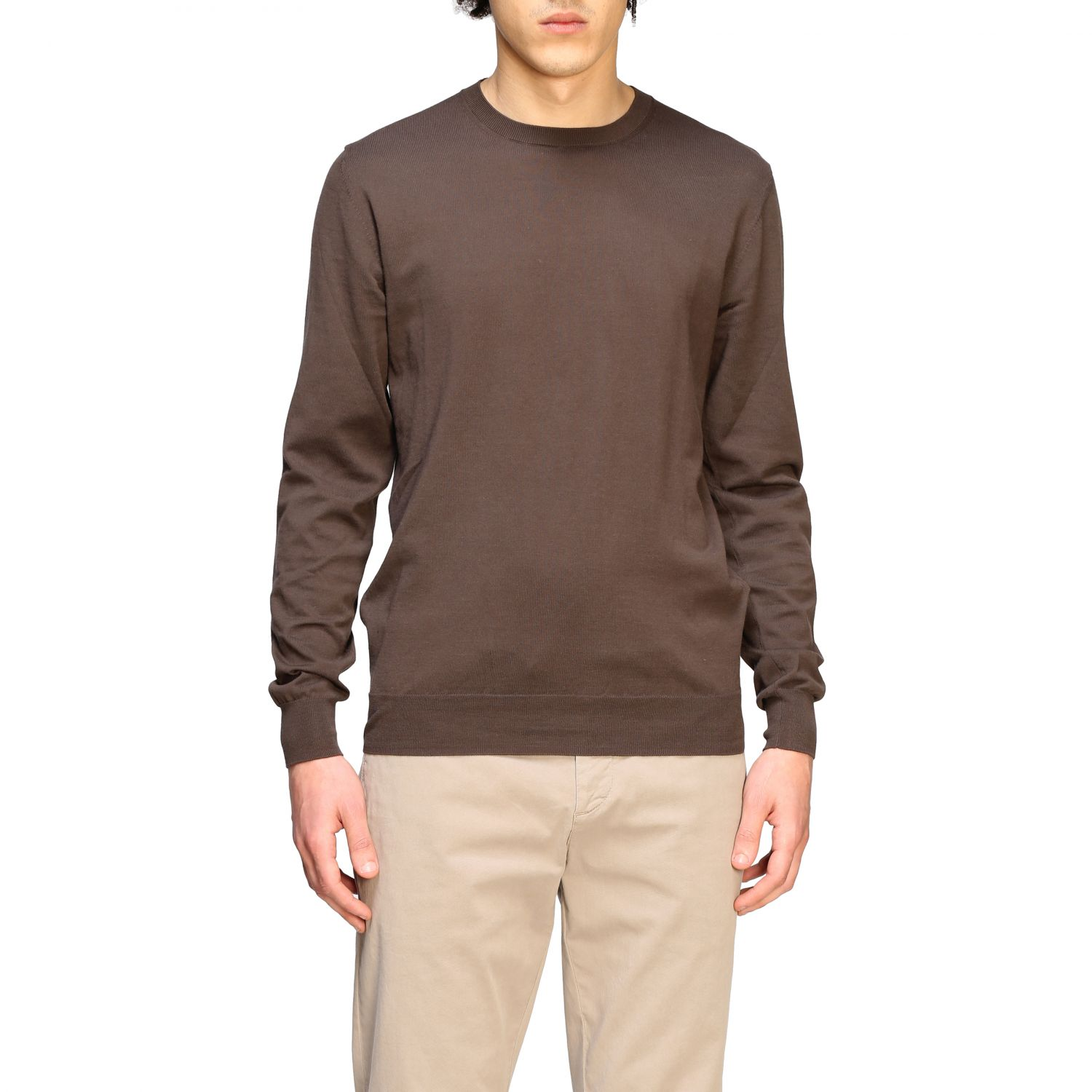 Pull homme Paolo Pecora brun 1