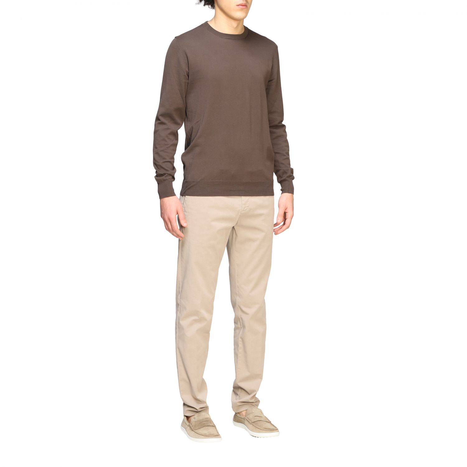 Pull homme Paolo Pecora brun 2