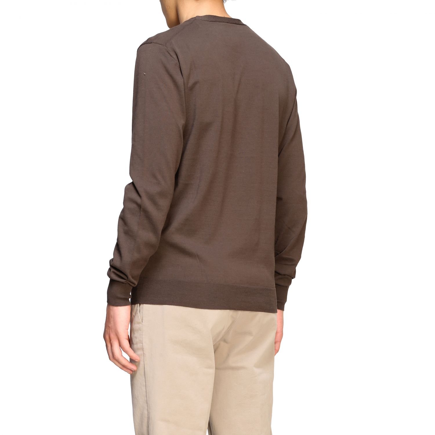 Pull homme Paolo Pecora brun 3