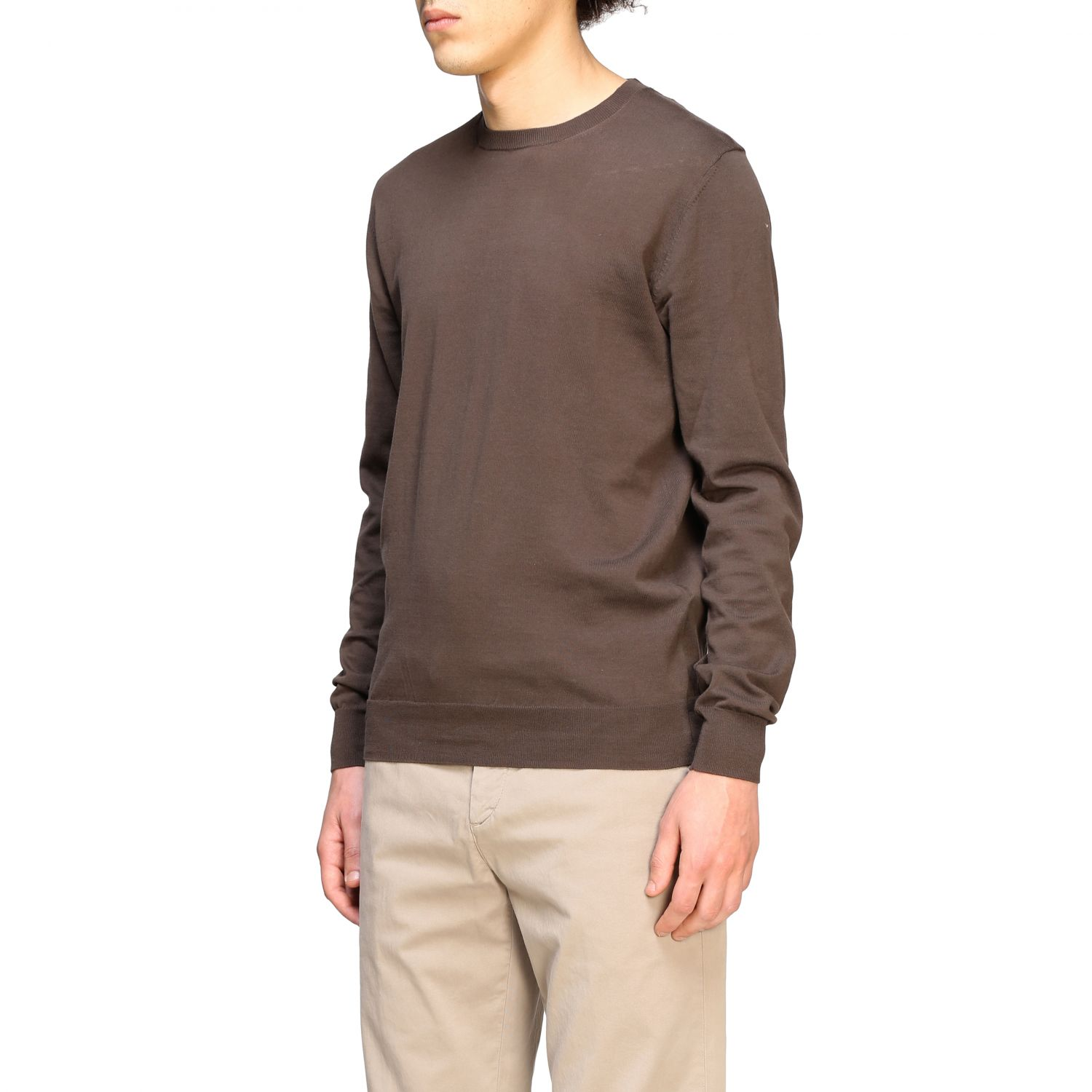 Pull homme Paolo Pecora brun 4