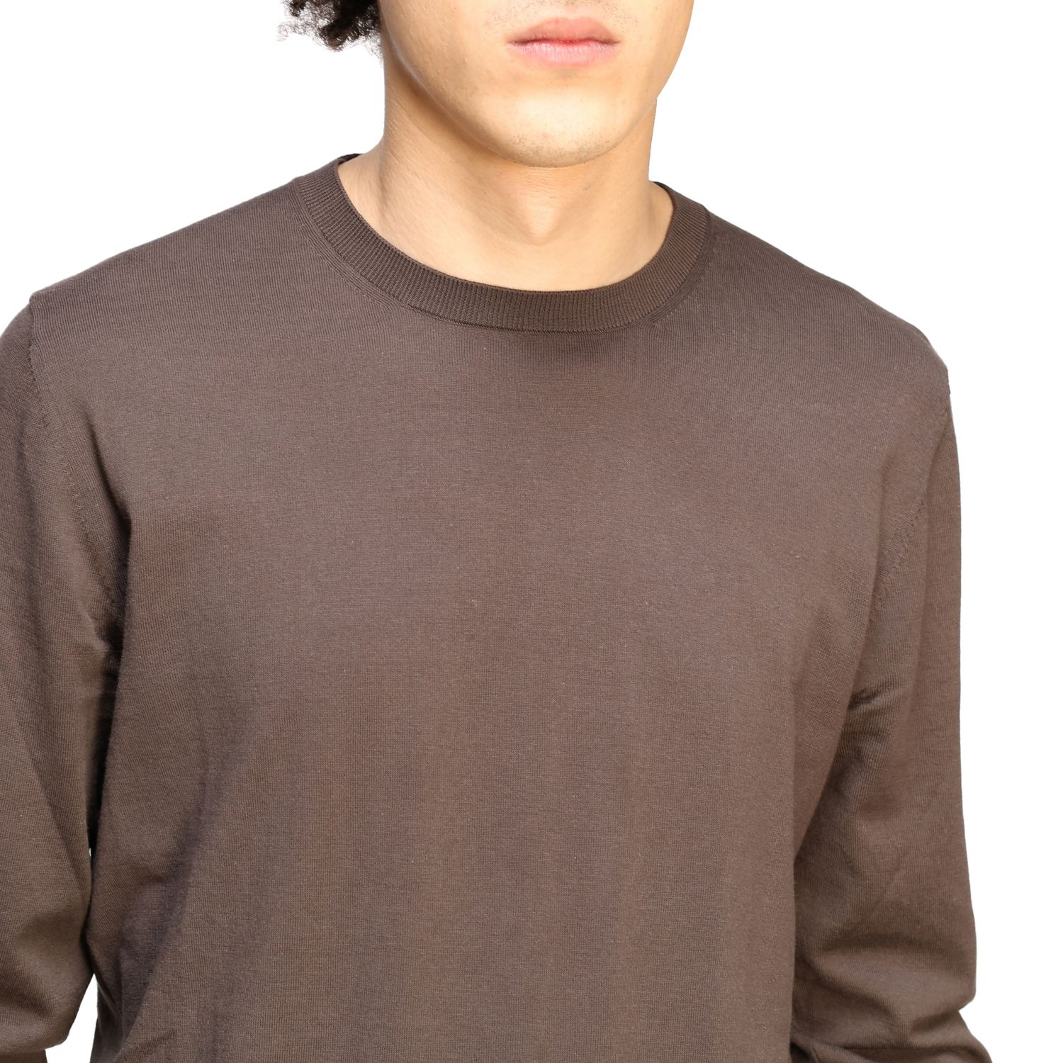 Pull homme Paolo Pecora brun 5