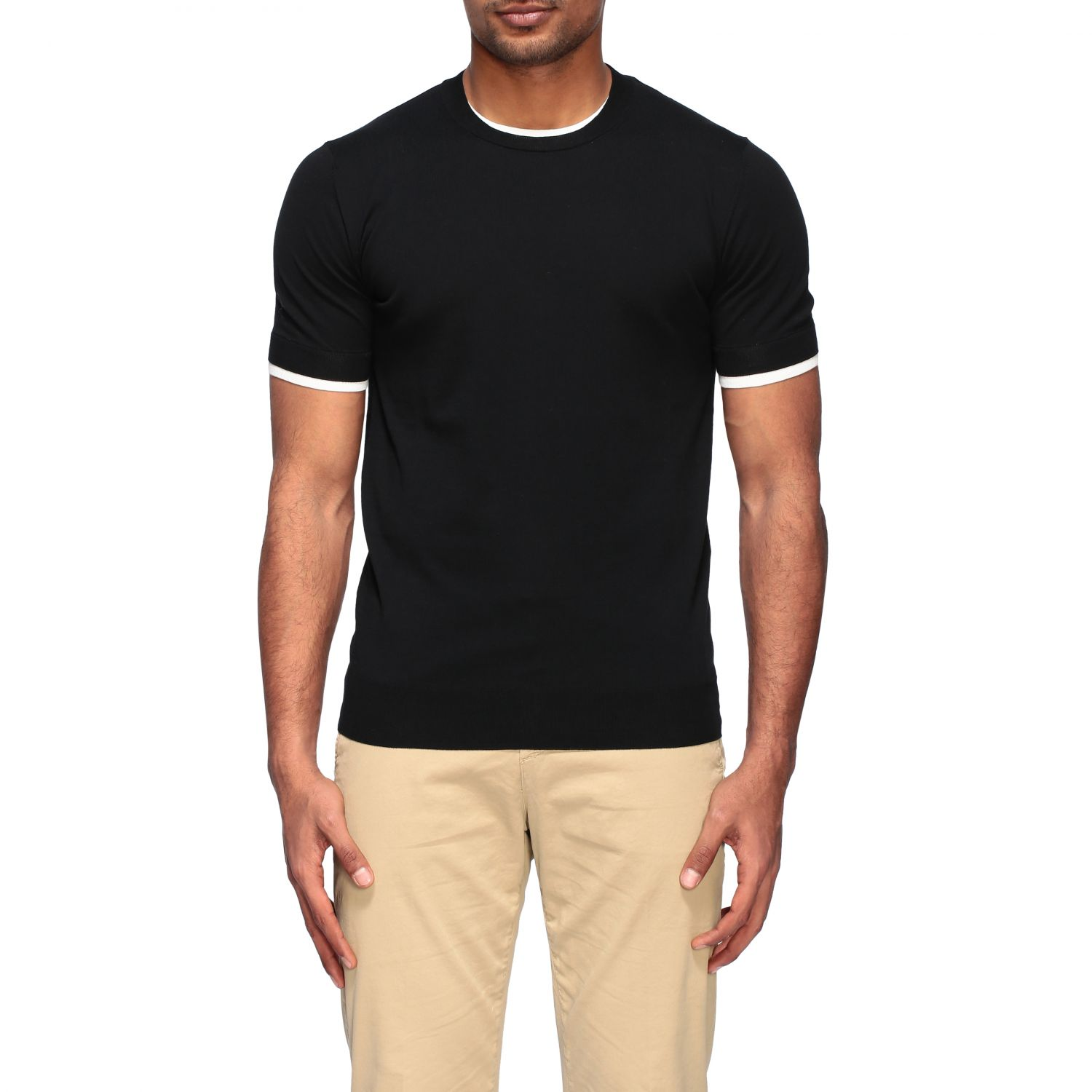 Pull homme Paolo Pecora noir 1