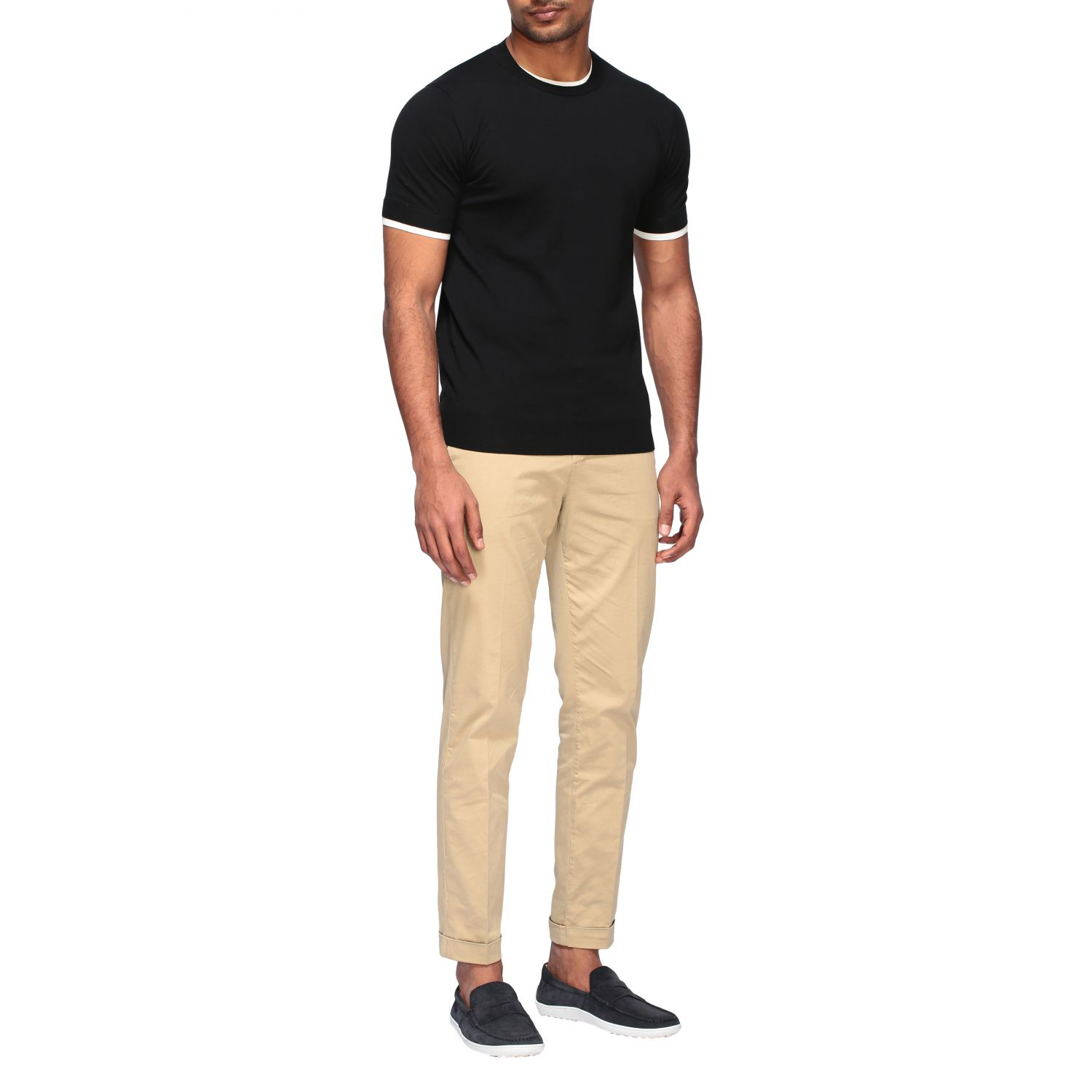 Pull homme Paolo Pecora noir 2