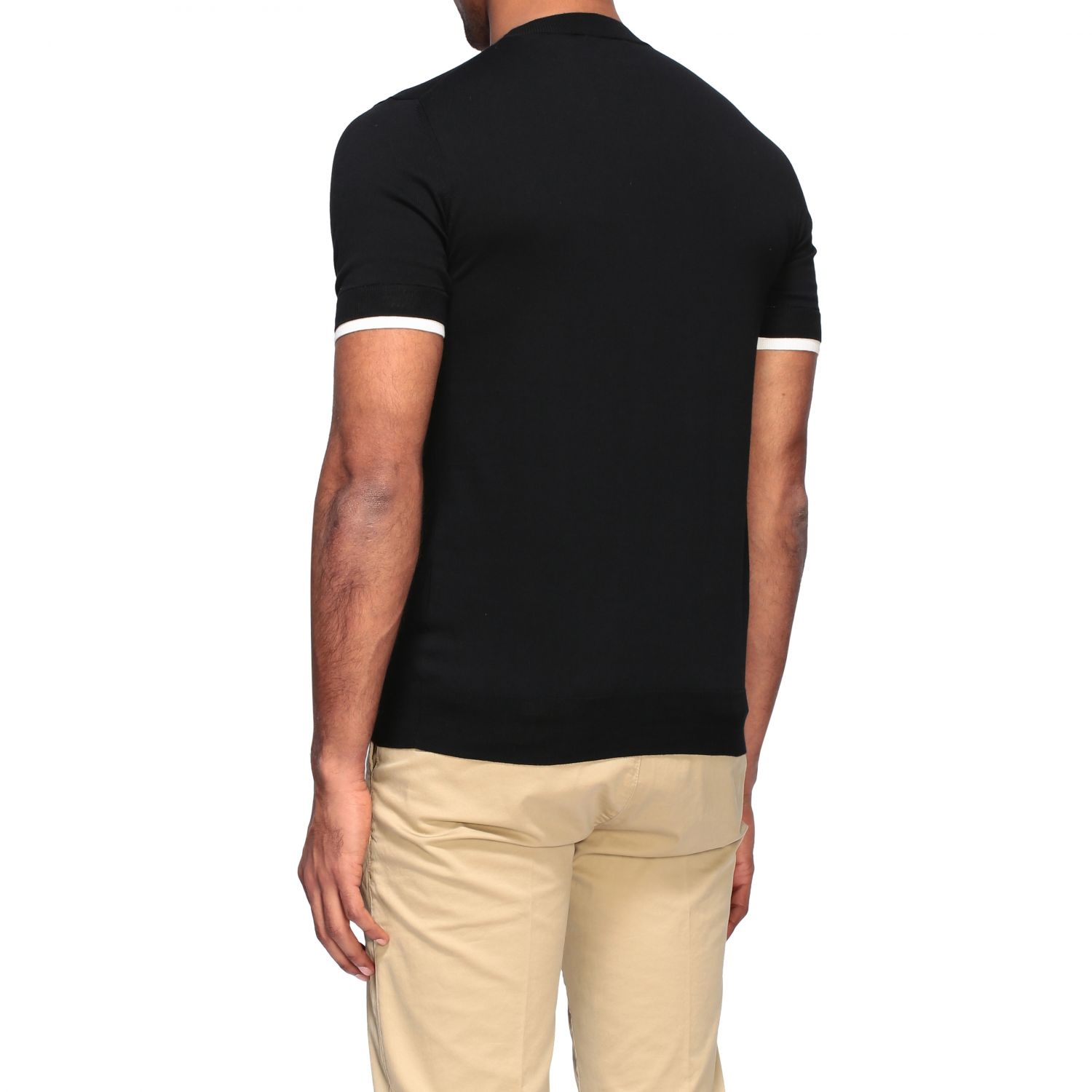 Pull homme Paolo Pecora noir 3