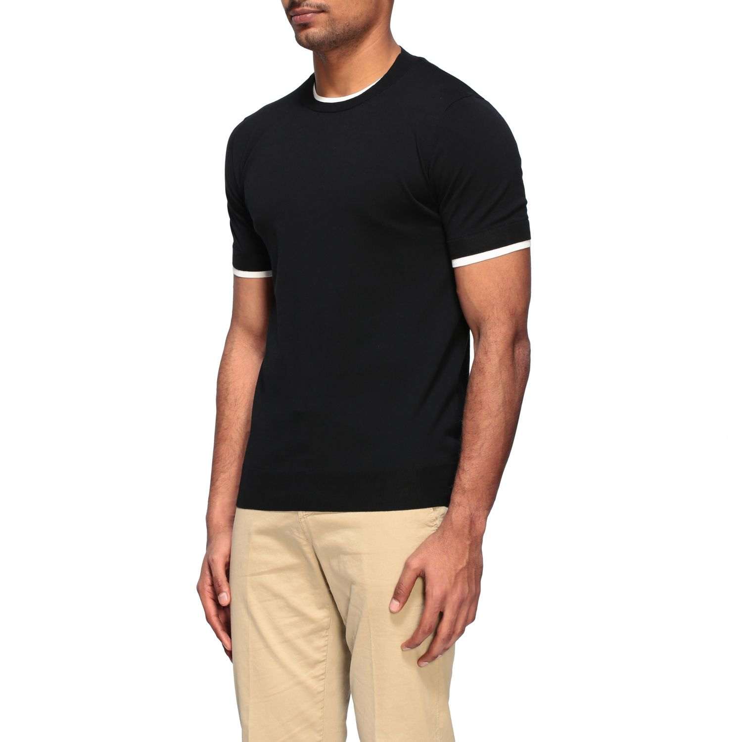 Pull homme Paolo Pecora noir 4