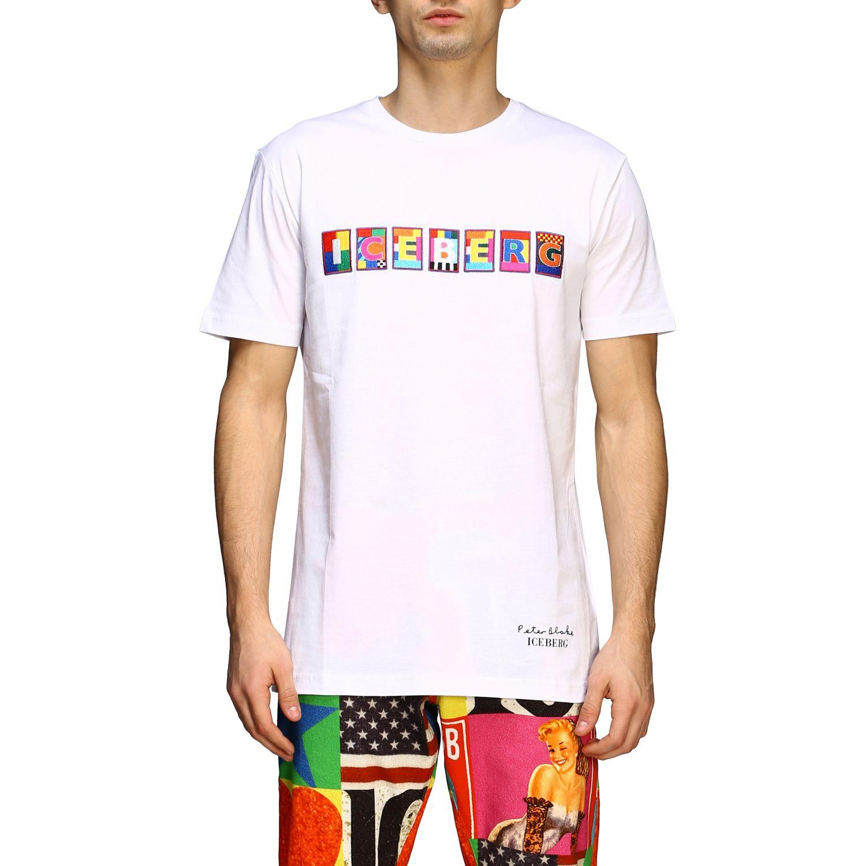 T-shirt Iceberg x Peter Blake con patch logo multicolor bianco 1