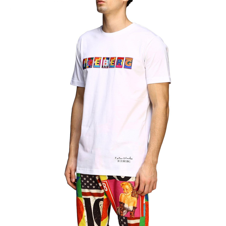 T-shirt Iceberg x Peter Blake con patch logo multicolor bianco 4