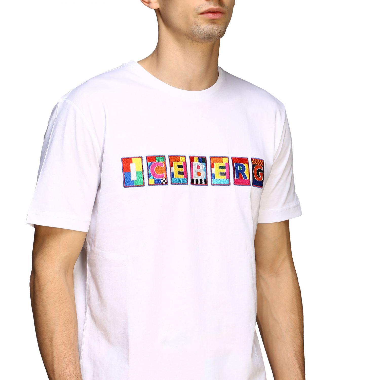 T-shirt Iceberg x Peter Blake con patch logo multicolor bianco 5