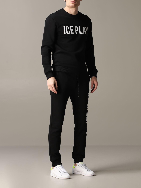 Ice Play Jogginghose mit Logo schwarz 2
