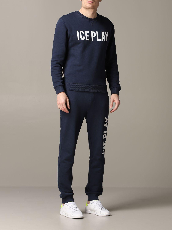 Sudadera hombre Ice Play azul oscuro 2