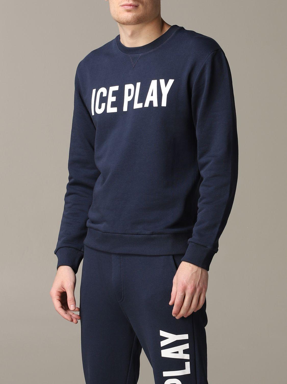 Sudadera hombre Ice Play azul oscuro 4