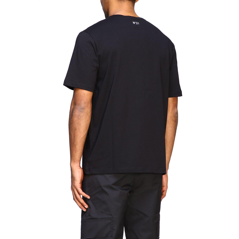 T-Shirt N° 21: N ° 21 T-Shirt mit großem Auto Print schwarz 3
