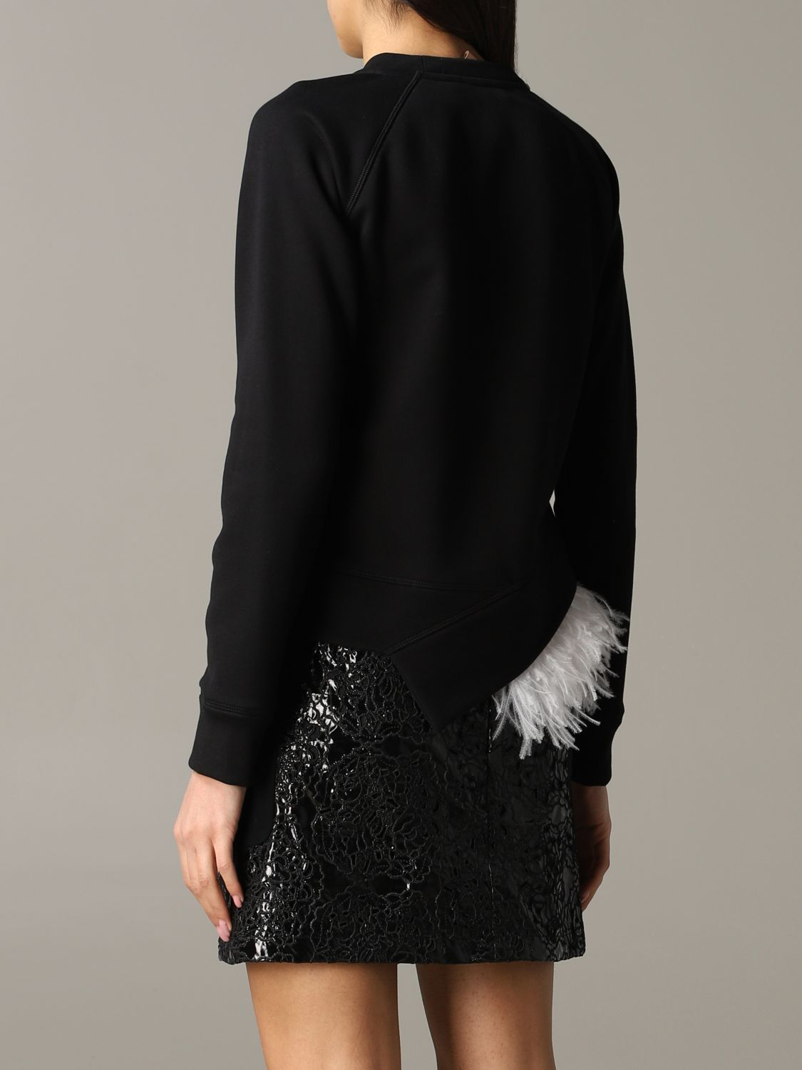 N ° 21 sweatshirt with feather inserts black 3