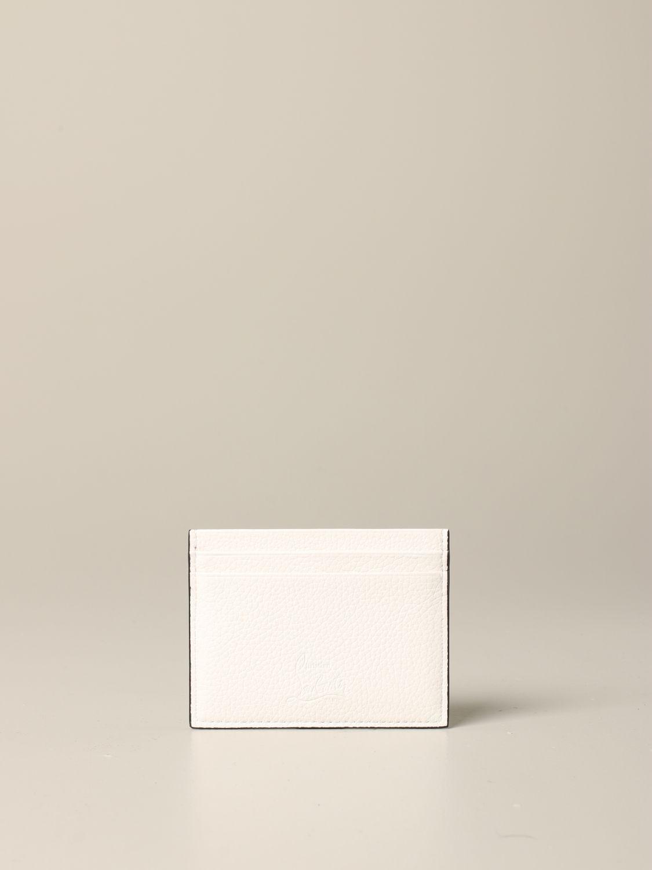 Porte-cartes de crédit Kios Christian Louboutin avec clous blanc 2
