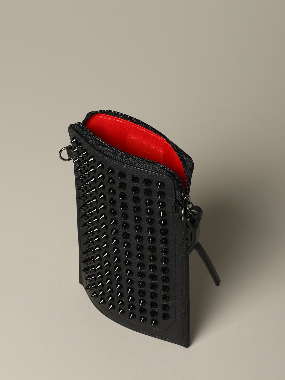 Pochette Loubi lab Christian Louboutin in pelle con borchie nero 4