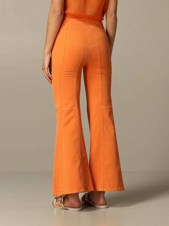 Jeans Alberta Ferretti: Pantalone Alberta Ferretti flaire con zip arancione 2
