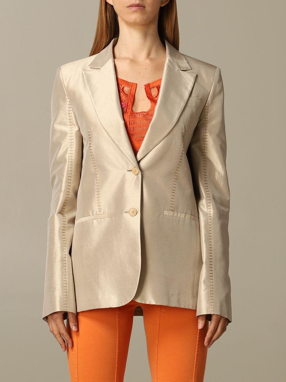 Blazer Alberta Ferretti: Blazer women Alberta Ferretti beige 1