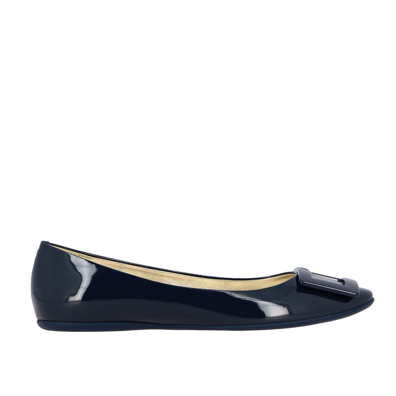 балетки Roger Vivier: Обувь Женское Roger Vivier синий 1