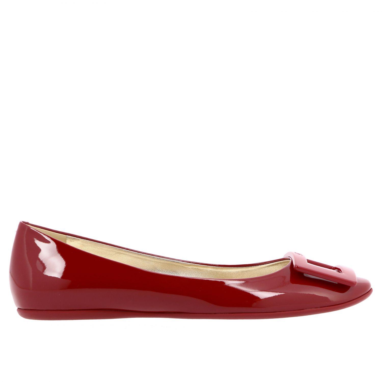 балетки Roger Vivier: Обувь Женское Roger Vivier красный 1