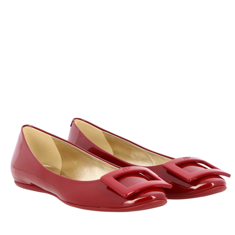 балетки Roger Vivier: Обувь Женское Roger Vivier красный 2
