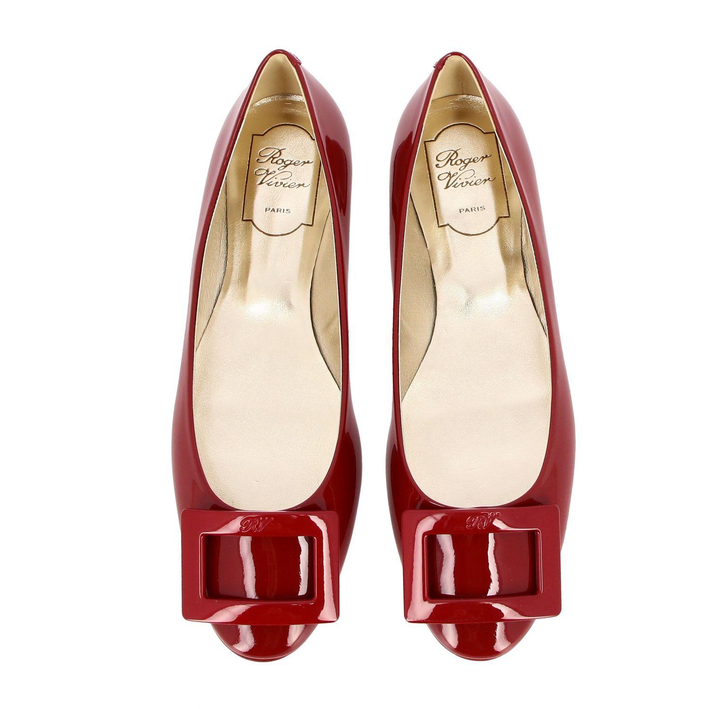 балетки Roger Vivier: Обувь Женское Roger Vivier красный 3