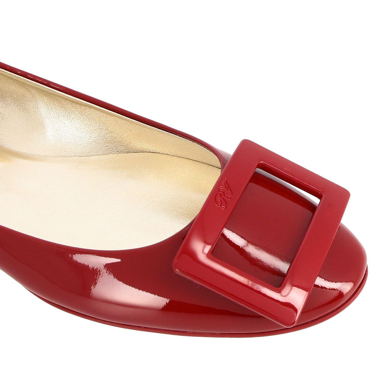 балетки Roger Vivier: Обувь Женское Roger Vivier красный 4